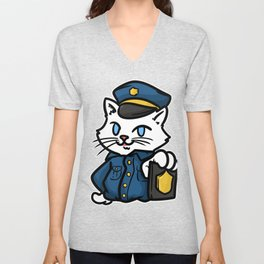 police policeman officer gift security guard law Unisex V-Neck