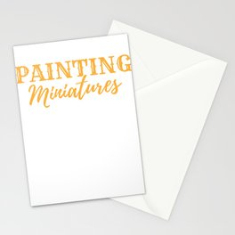 Painter Painting Miniatures Art Hobby  Gift Stationery Cards