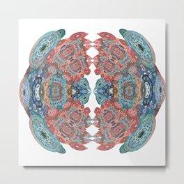 Heart of Gentle Power Mandala Metal Print