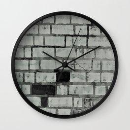Graffiti Art on a Brick Wall. Original Painting by Jodi Tomer. Abstract Street Art Wall Clock