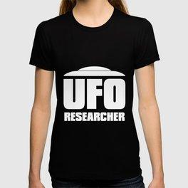 UFO RESEARCHER WHITE T-shirt
