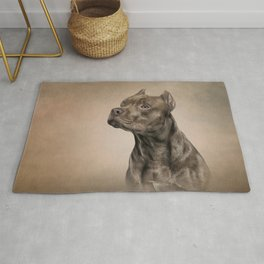Funny American Staffordshire Terrier Rug