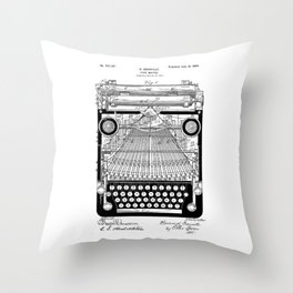 patent art Granville Type Writer 1900 Throw Pillow