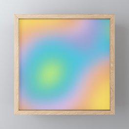 Pastel Rainbow Ombre Blur Design Framed Mini Art Print