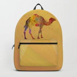 Geometric watercolor camel Backpack
