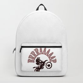 Brrraaaaap Red Checkered Flag Moto Language Backpack