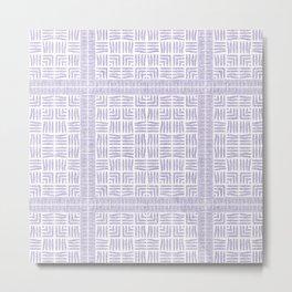 Nappy Faux Velvet Framed Weave in Pastel Lilac Metal Print
