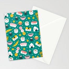 Happy sushi pattern Stationery Cards