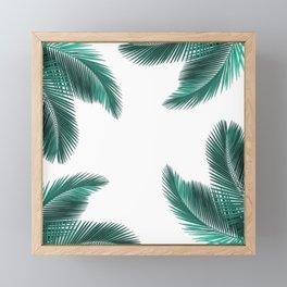 Pattern Feuilles de Palmier Framed Mini Art Print