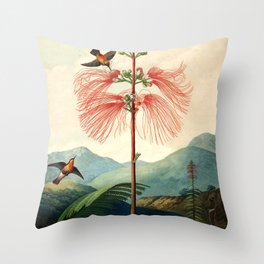 Large flowering sensitive plant. Throw Pillow