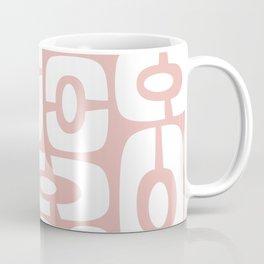 Mid Century Modern Cosmic Abstract 242 Dusty Rose Coffee Mug