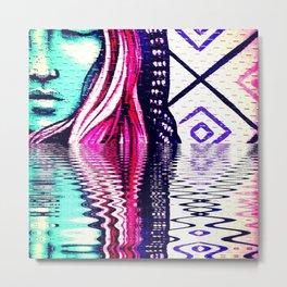Woman in the water Metal Print