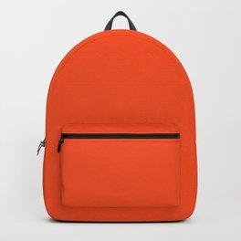 SAFETY ORANGE Bright pastel solid color  Backpack