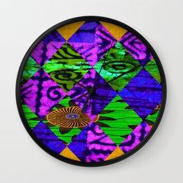 Mardi Gras African Print Wall Clock