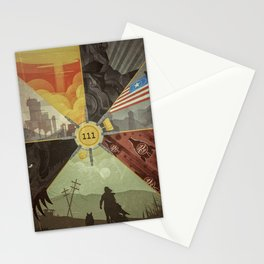 War Never Changes Stationery Cards