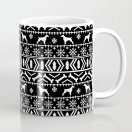 Brittany Spaniel fair isle christmas dog breed pet pattern pupper gifts Coffee Mug