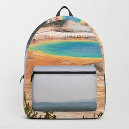 Grand Prismatic Springs Yellowstone National Park Photograph Backpack