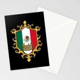 Mexico Flag - Mexican Emblem - Hecho En Mexico Stationery Cards