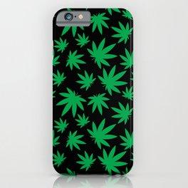 Weed Leaf Pattern  iPhone Case