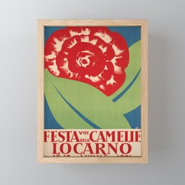 retro plakat locarno 1931 viii festa delle camelie camelia Framed Mini Art Print