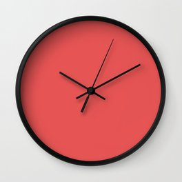 Simply Solid - Valentine Red Wall Clock