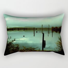 Green Bridge  Rectangular Pillow