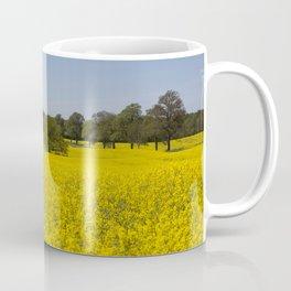 Spring Impression Yellow Flowering Rape Fields In Germany Coffee Mug
