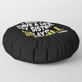 Softball Sister Floor Pillow