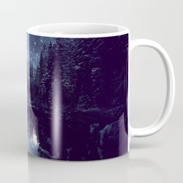 A Cold Winter's Night Midnight Blue Winter Wonderland Coffee Mug