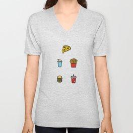 Baesic Fast Food Pack Unisex V-Neck