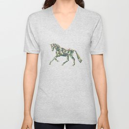 Dressage Horse Cantering Unisex V-Neck