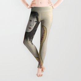 SARA HEBI / SNAKE WOMAN - ARTIST UNKNOWN Leggings