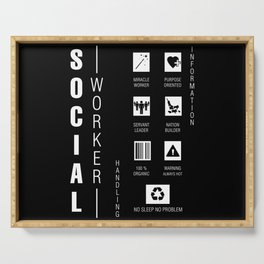 Social Worker Serving Tray