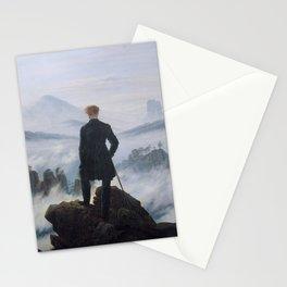 Wanderer above the Sea of Fog - Caspar David Friedrich Stationery Cards