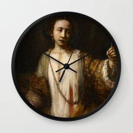 Rembrandt van Rijn - Lucretia Wall Clock