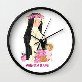 Saint Rose of Lima Wall Clock