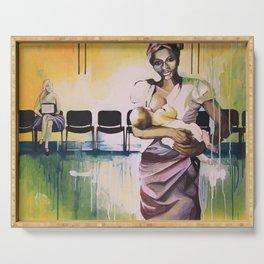 Les demoiselles avec un enfant Serving Tray