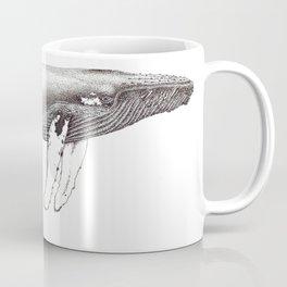Humpback whale black and white ink ocean decor Coffee Mug