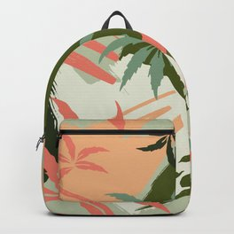 Abstract Palm Tree Pattern Brushstrokes Backpack