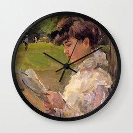 Isaac Lazarus Israels - Girl Reading - Digital Remastered Edition Wall Clock
