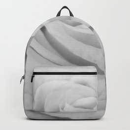 Single white rose close up Backpack