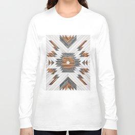 Urban Tribal Pattern No.8 - Aztec - Wood Langarmshirt