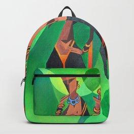 Three Ethnic Traditional Black Women Dancing Backpack