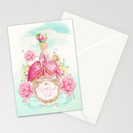 Marie Antoinette Let them Eat Cake Stationery Cards