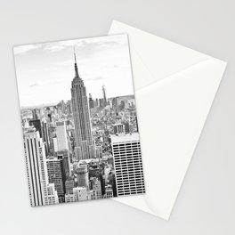 New York City, Manhattan (Black & White) Stationery Cards