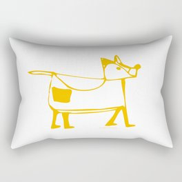 Funny dog white-orange pattern Rectangular Pillow