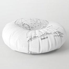 Buckminster Fuller 1961 Geodesic Structures Patent Floor Pillow