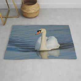 Elegant Mute Swan in the Harbor Rug
