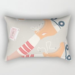 Roller skate girl 003 Rectangular Pillow