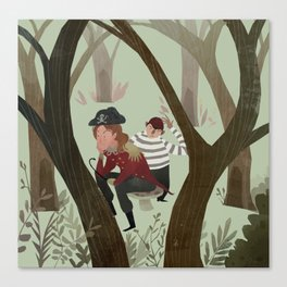 Hook and Smee Canvas Print